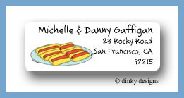 Buns & dogs return address labels personalized