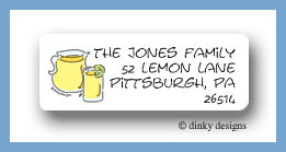 Lemonade in the shade return address labels personalized