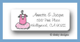 Evie's tutu return address labels personalized