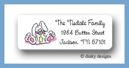 Ellie the bunny return address labels personalized