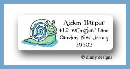 Sammy snail return address labels personalized