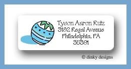 Super ball return address labels personalized