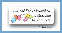 Beans - jelly return address labels personalized