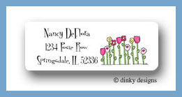 Petal pushers return address labels personalized
