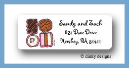 Chocolates return address labels personalized
