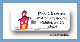 School house return address labels personalized