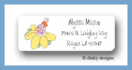 Suzie the ladybug return address labels personalized