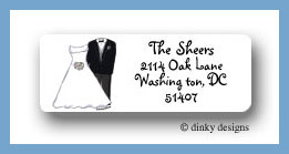 Bridal party return address labels personalized