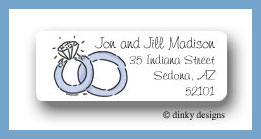 Wedding rings return address labels personalize