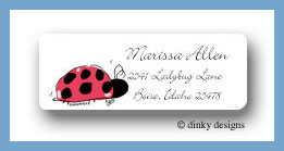 Little lady return address labels personalized