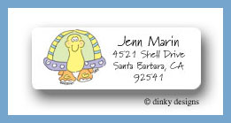 Tommy the turtle return address labels personalized