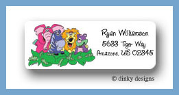Zebra & pals return address labels