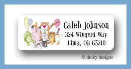 Magic party return address labels personalized