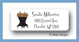 Corset: black leopard return address labels personalized