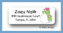 Charlie the seahorse return address labels personalized