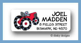 Barnyard tractor return address labels personalized