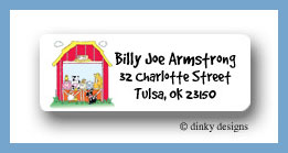 Barnyard pals return address labels personalized