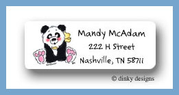 Polly panda return address labels personalized