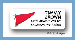 Boys toys return address labels personalized
