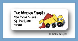 Big dump truck return address labels personalized