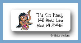 Teenie wahine return address labels personalized