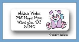 Gigi panda return address labels personalized
