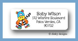 Zoe zoodle return address labels personalized