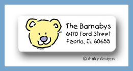Bear return address labels personalized
