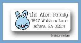 Bunny return address labels personalized