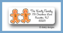 Gingerbread return address labels personalized