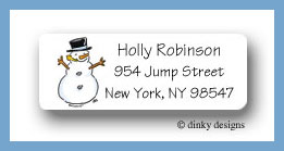 Snowman return address labels personalized