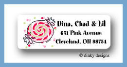 Peppermint return address labels personalized