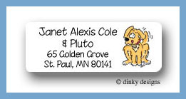 Pluto the puppy return address labels personalized