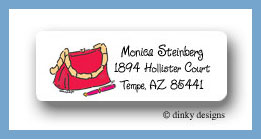 Cafe purse return address labels personalized