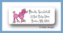 Fifi poodle return address labels personalized