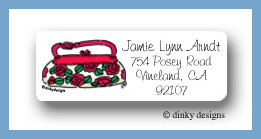 Rose are red pocketbook return address labels personalized