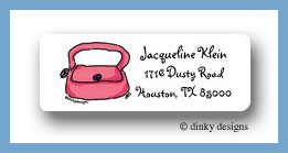 Dusty pink purse return address labels personalized