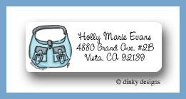 Robin's egg handbag return address labels personalized