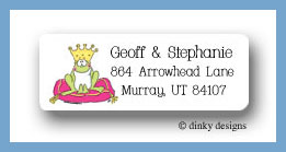 Frog prince return address labels personalized