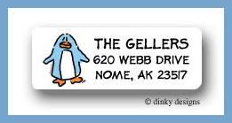 Dotter the penguin return address labels