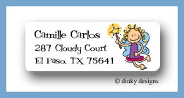 Fairy jane return address labels personalized