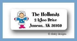 Eskimo jane return address labels personalized