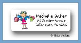 Shopper Jane return address labels, personalized