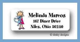 Luna and jane return address labels personalized