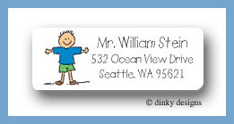 Dick return address labels personalized