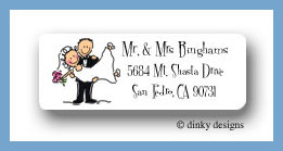Bridal dick and jane return address labels personalized