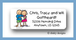 Baby, dick and jane return address labels personalized