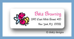 Lucy the lightning bug return address labels personalized