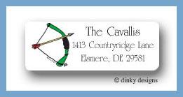Bow & arrow return address labels personalized