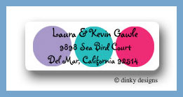 Pixie dots return address labels personalized